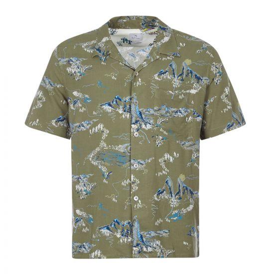 Paul Smith Short Sleeve Shirt | M2R 832T E20971 66 Green