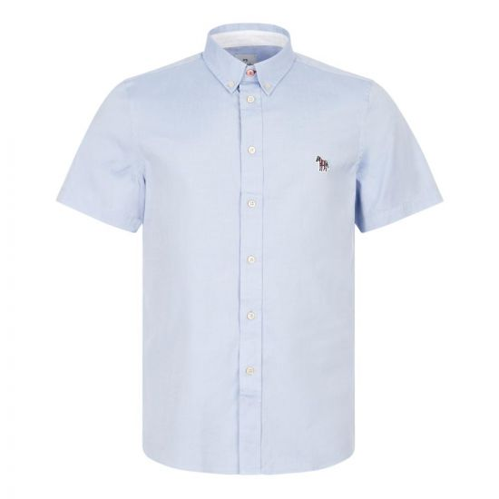 Paul Smith Short Sleeve Zebra Shirt | M2R 285U AZEBRA 44 Blue