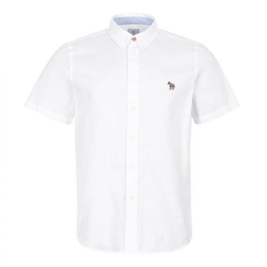 Paul Smith Short Sleeve Zebra Shirt | M2R 285U AZEBRA 01 White