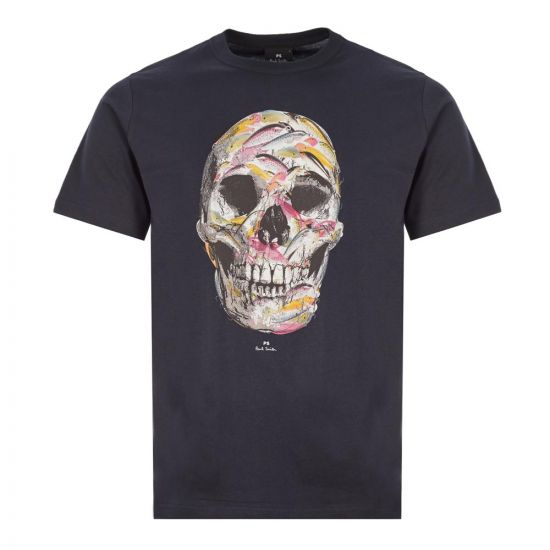 Paul Smith Skull T-Shirt   M2R 011R EP2146 Black
