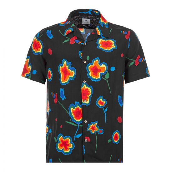 Paul Smith Short Sleeve Shirt Patterned|M2R 0114R A20879 79 Black|Aphrodite1994