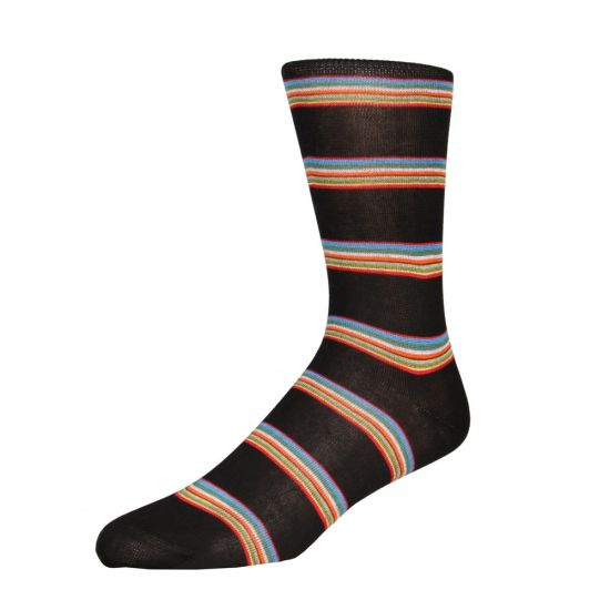 Paul Smith Multi Block Sock in Black