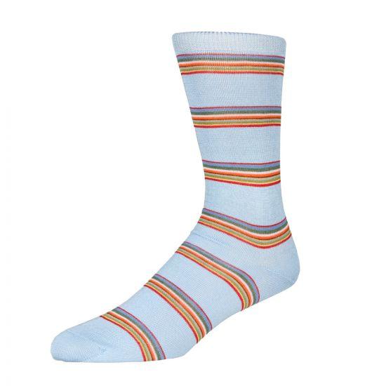 Paul Smith Multi Stripe Sock in Sky Blue