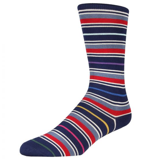 Paul Smith Socks Navy Stripes