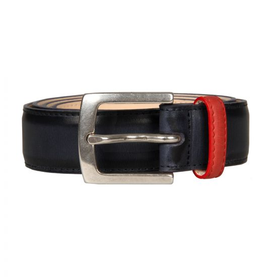Paul Smith Accessories Hand Burnished Suit Belt in Navy