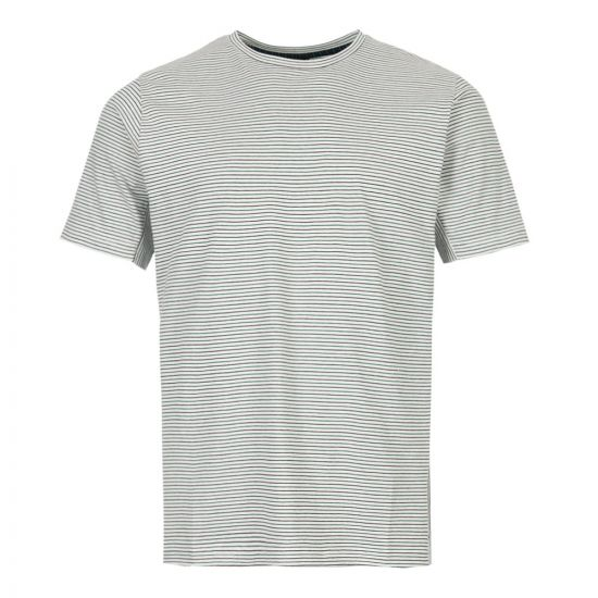 Paul Smith T-Shirt Stripe M2R 541T A20607 02 Ecru / Green / Black
