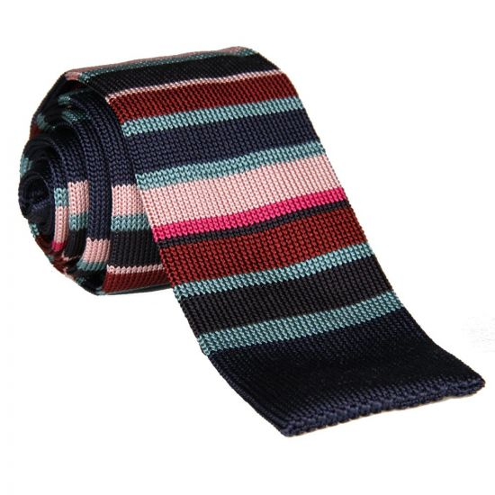 Paul Smith Accessories Knitted Tie - Navy Stripe