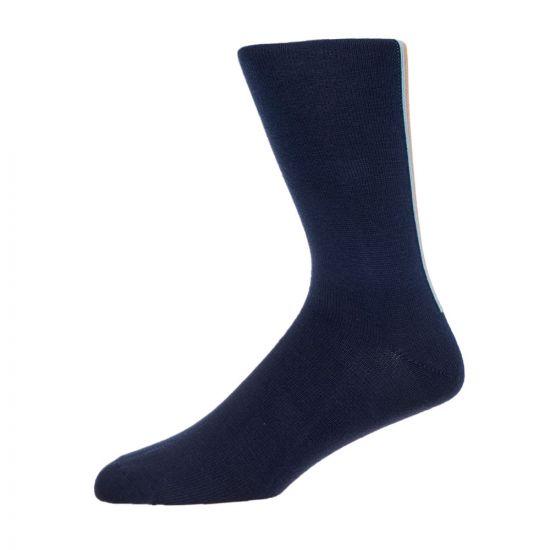 Paul Smith Accessories Stripe Socks - Navy 21100CP -1