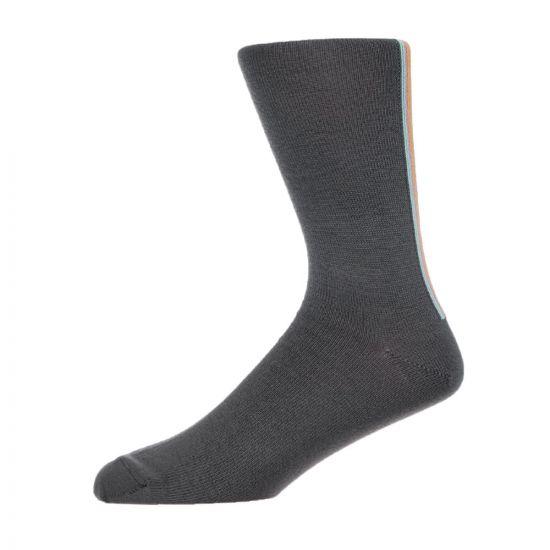 Paul Smith Accessories Stripe Socks - Slate 21101CP -1