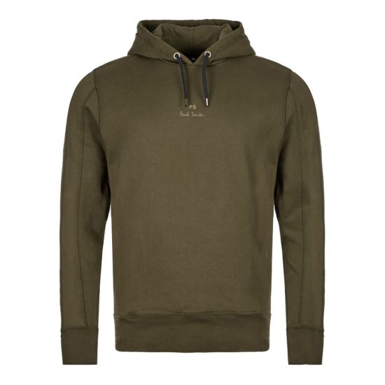 Paul Smith Panel Hoodie M2R|613T|A20704|39 In Green At Aphrodite Clothing