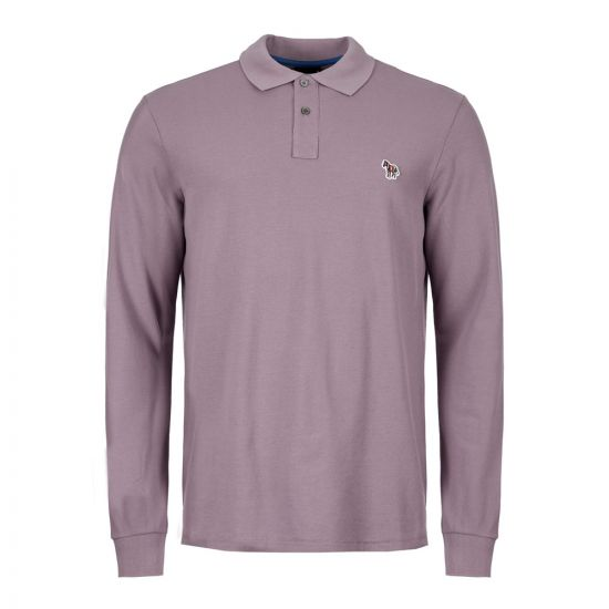 Paul Smith Long Sleeve Polo Shirt | M2R 115LZ C20067 53 Purple