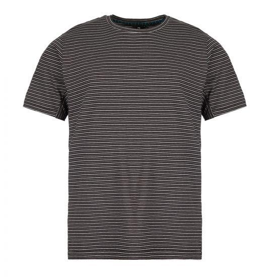 paul smith t-shirt stripe M2R 541T A20607 79 black / white / grey