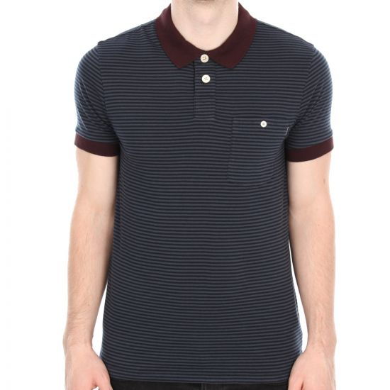 Polo - Navy Stripe