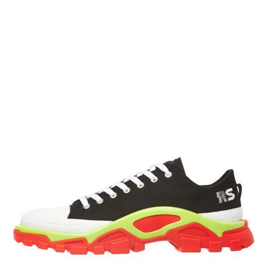 adidas x Raf Simons Detroit Runner Sneaker EE7935 Black/Lime/Red