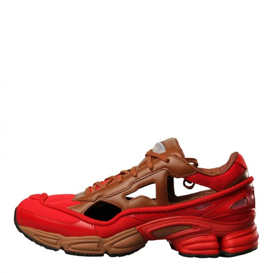 adidas x Raf Simons Replicant Ozweego Sneakers BB7987 Scarlet / Brown