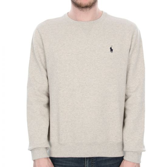 ralph lauren crew neck sweatshirt - grey