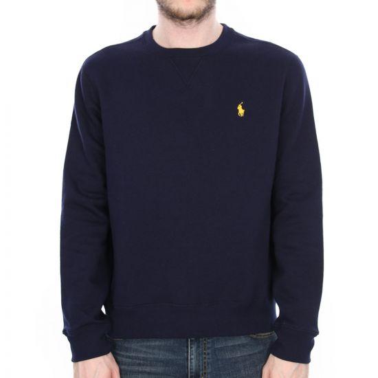 ralph lauren crew neck sweatshirt in cruise navy