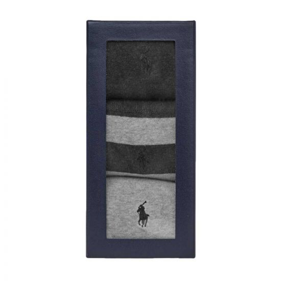 Ralph Lauren 3 Pack Rugby Socks | 449767289 002 Grey / Navy