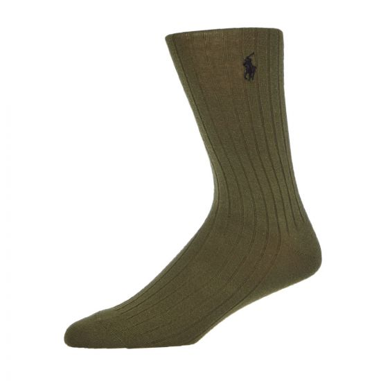 Ralph Lauren 3 Pack Socks | 449767291 003 Olive / Black / Grey