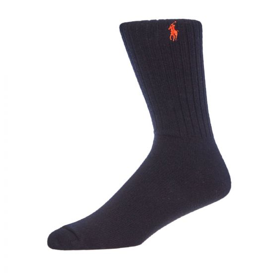 ralph lauren three pack socks 449767235 006 orange, navy, taupe