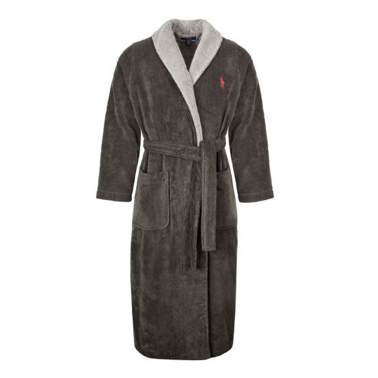 Ralph Lauren Shawl Robe   71453012 002 Charcoal And Grey   Aphrodite Clothing
