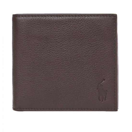 Ralph Lauren Billfold Wallet   405526127 001 Pebbled Brown