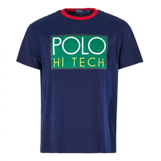 Ralph Lauren Polo Hi-Tech Logo T-Shirt 71071773 005 Navy