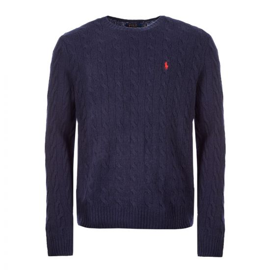 Ralph Lauren Cable Sweater | 710719546 012 Navy |