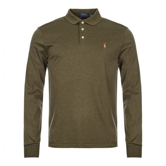 Ralph Lauren Long Sleeve Polo Shirt 710743841|006 In Green At Aphrodite Clothing