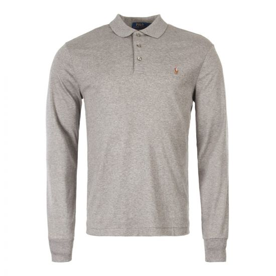 Ralph Lauren Long Sleeve Polo Grey 710743841 003
