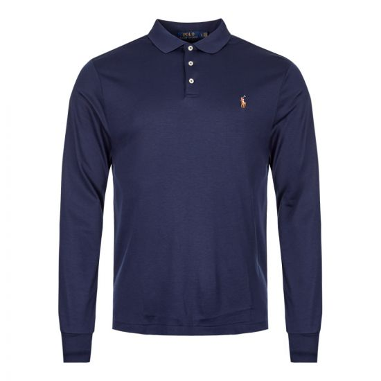 Ralph Lauren Long Sleeve Polo Shirt 710743841 001 Navy