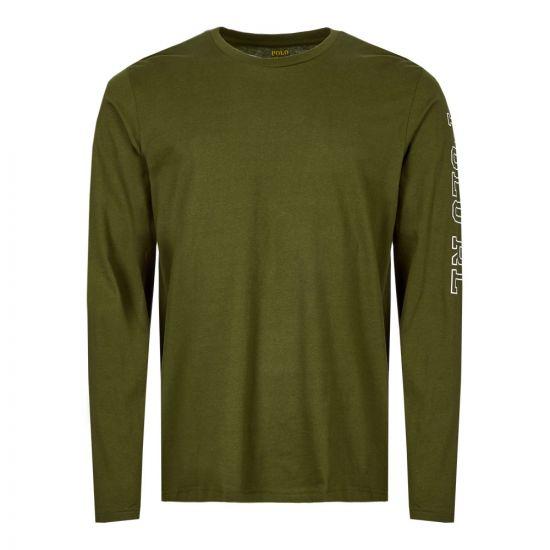 Ralph Lauren Sleepwear Long Sleeve T-Shirt 714757467 005 Olive
