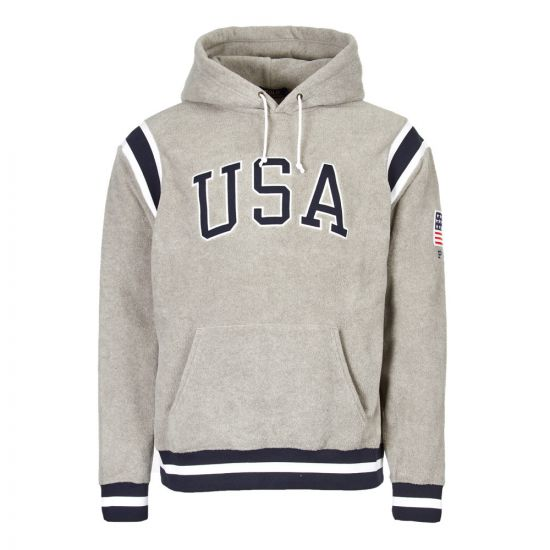 Ralph Lauren Fleece Hoodie 710719883 001 Grey