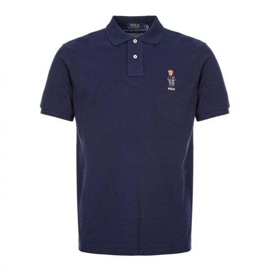 Polo Shirt Bear Logo - Navy