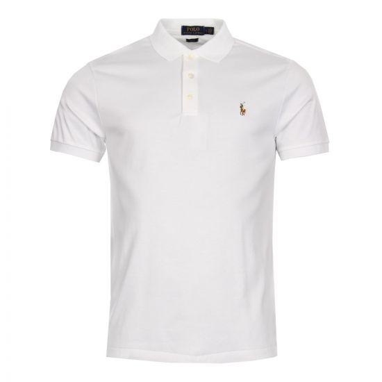Ralph Lauren Slim Fit Polo, White, 710685514-001