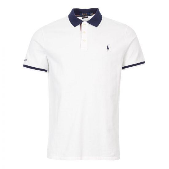 Polo Shirt - White / Navy