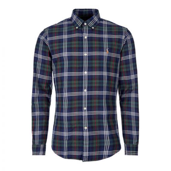 ralph lauren shirt 710767441 003 navy / green check
