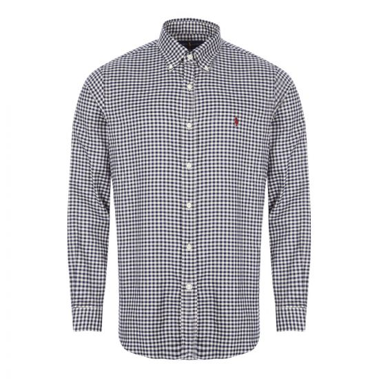 Shirt - Navy / White Check