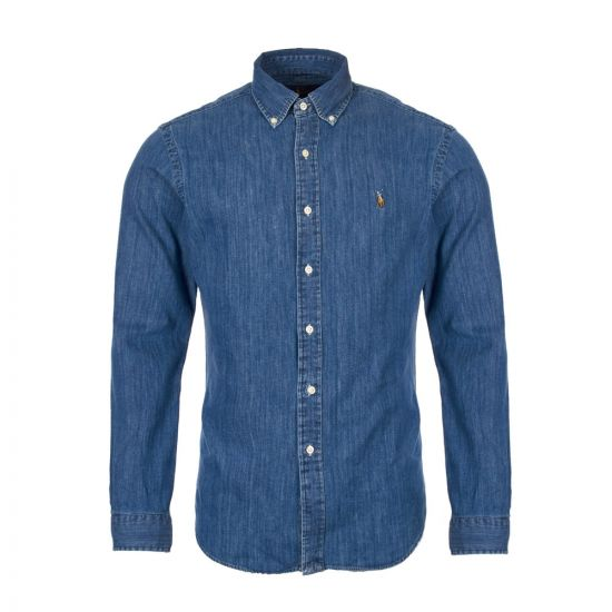 ralph lauren shirt chambray 710548539|001 dark wash