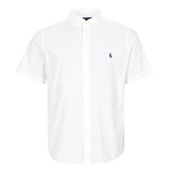 ralph lauren short sleeve shirt 710795250 001 white