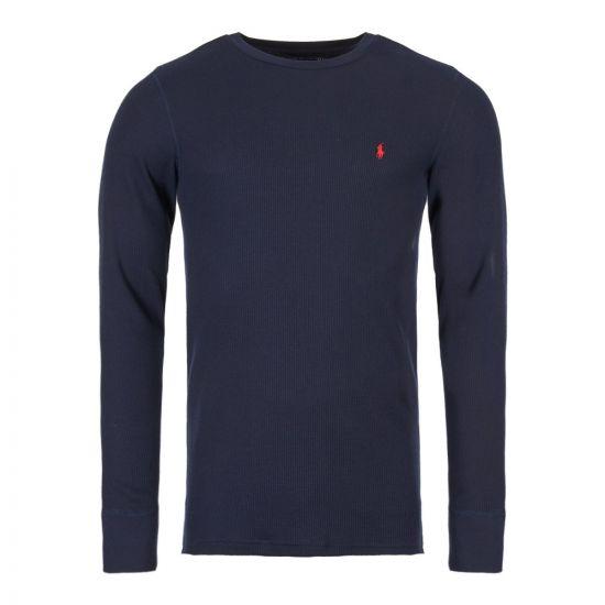 ralph lauren sleepwear long sleeve t-shirt 714705228 009 navy