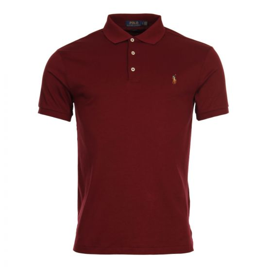 Ralph Lauren Slim Fit Polo 710652578 073 In Classic Wine
