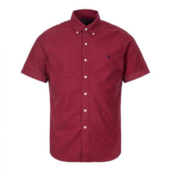 Ralph Lauren Short Sleeve Shirt Sports   710755879 003 Red