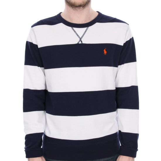 Ralph Lauren Striped Sweater in Newport Navy