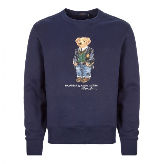 Sweatshirt Bear Logo - Navy