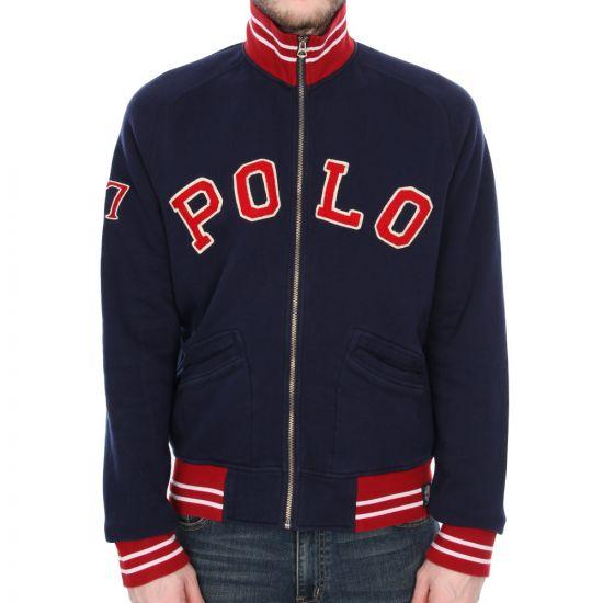 ralph lauren navy zip up