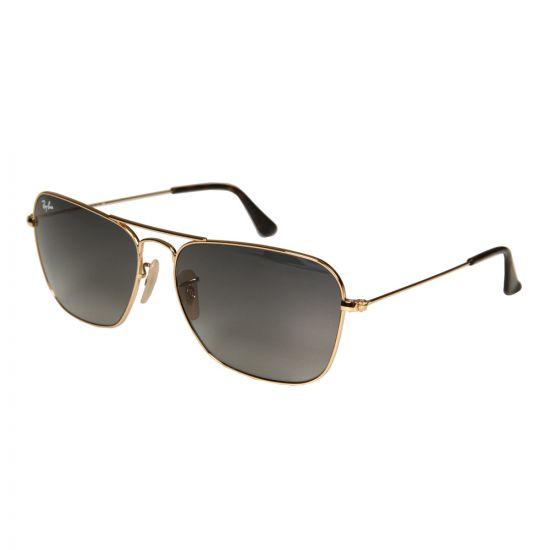 Ray Ban Sunglasses Caravan | ORB3136181/7158 Black / Gold