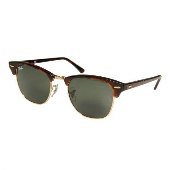 Ray Ban Clubmaster Sunglasses | ORB3016W036651 Green / Tortoise