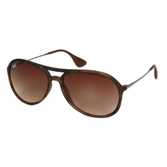 Ray Ban Alex Gradient Sunglasses in Brown