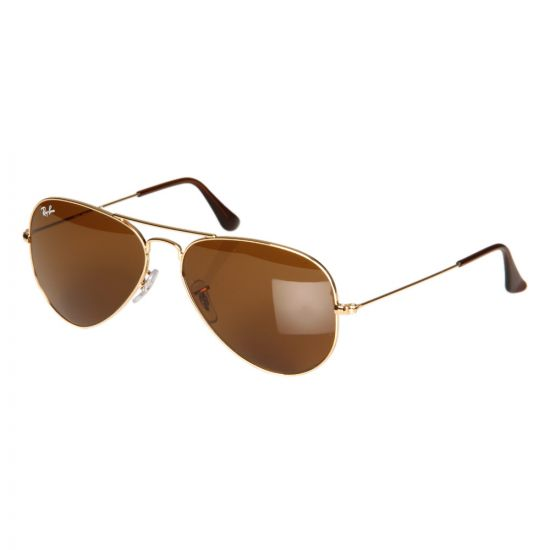 Ray Ban Sunglasses Gold Aviator Sunglasses